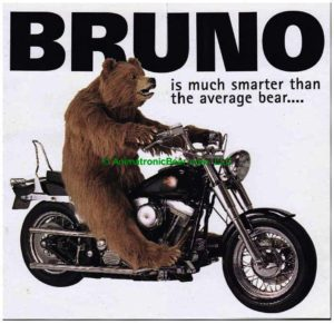 Bruno Special Effects brown bear suit Harley Davidson Animatronic Bear