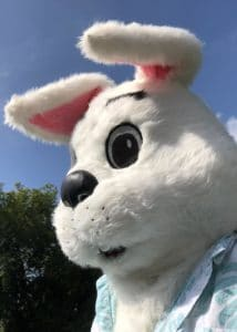Easter bunny character mascot costume