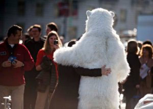 realistic Polar Bear animal Costume