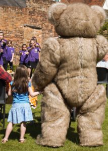 Bentley the Bear making magic at the annual WhizzFizzFest Event