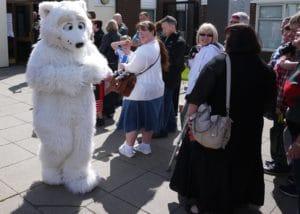 Polar Bear Mascot Costume Mascot ambassadors