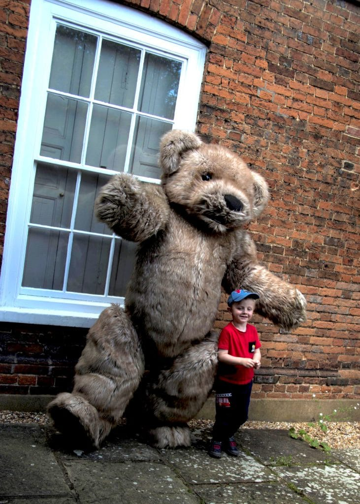 realistic teddy bear costume for hire