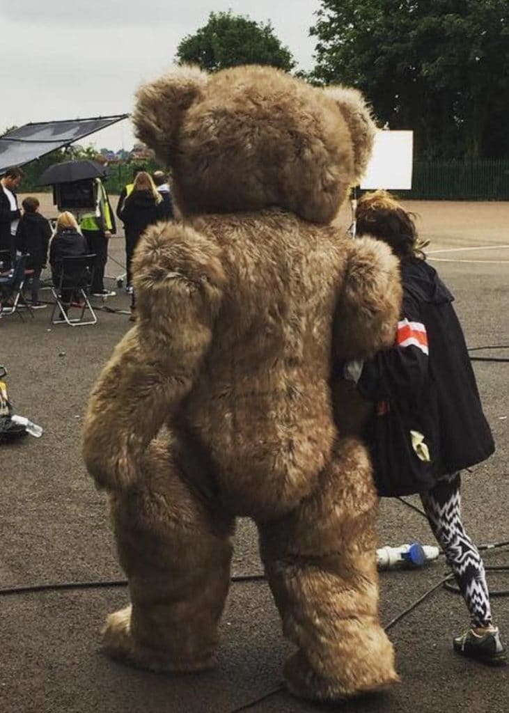 Behind the scenes Teddy Bear Mascot Suit