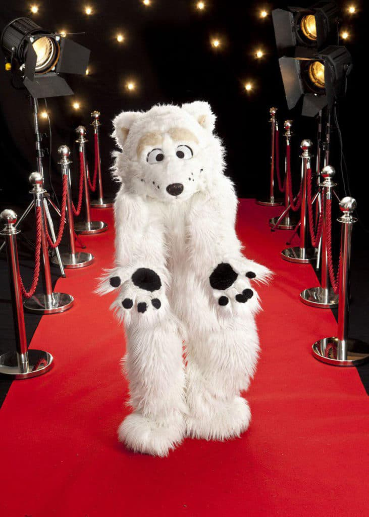 Polar bear character costume
