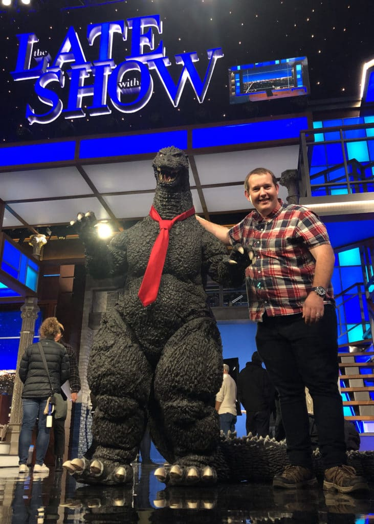 Godzilla Toho Costume at The Late Show with Stephen Colbert