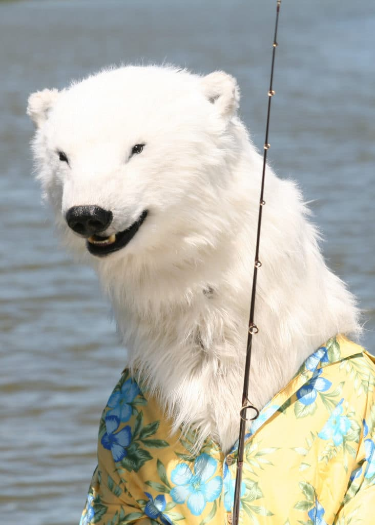 realistic Polar Bear costume