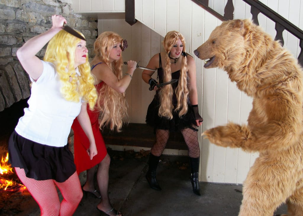 realistic bear costume KATY PERRY