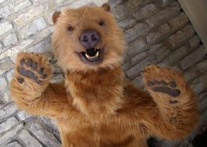 Karluk the SPFX animatronic bear creature suit prop