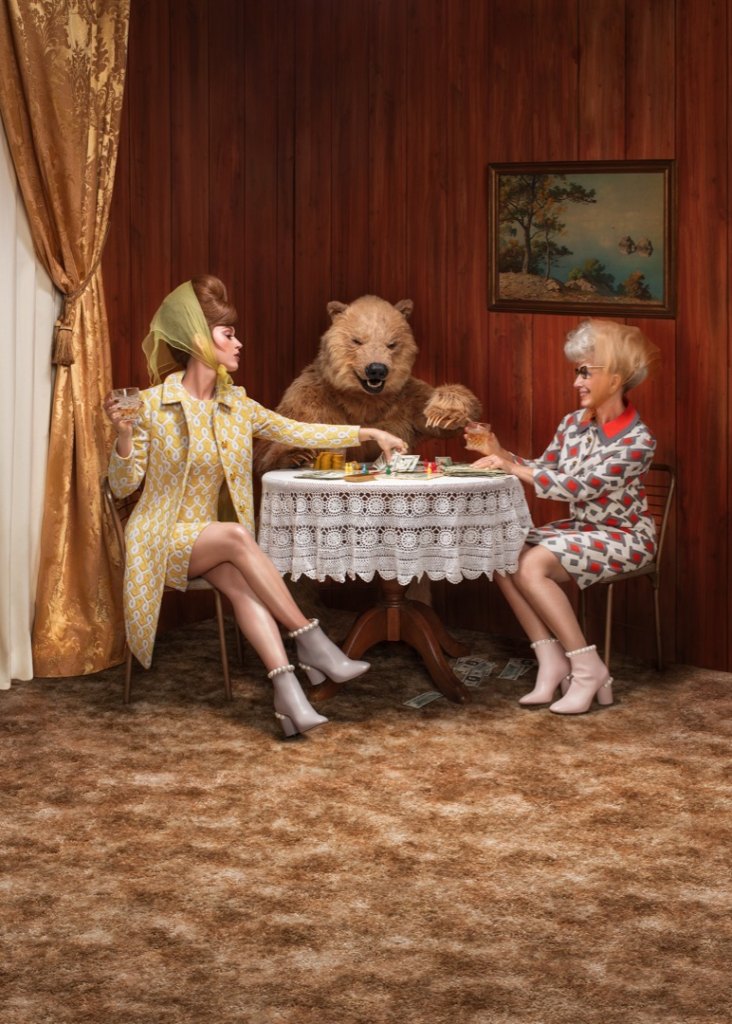 lookalike grizzly bear costume katy perry photoshoot