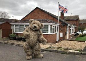 Teddy Bear Mascot costume Bentley The Bear