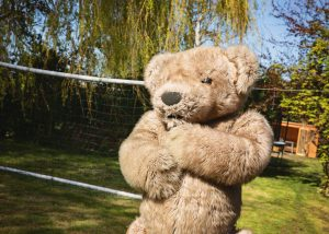 Teddy Bear mascot suit Bentley The Bear