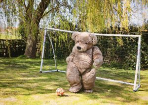 Teddy Bear mascot suit Bentley The Bear