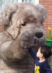 Realistic Teddy Bear costume Bentley The Bear