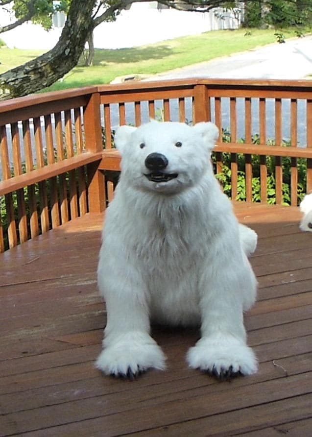 Animatronic special effects polar bear suit