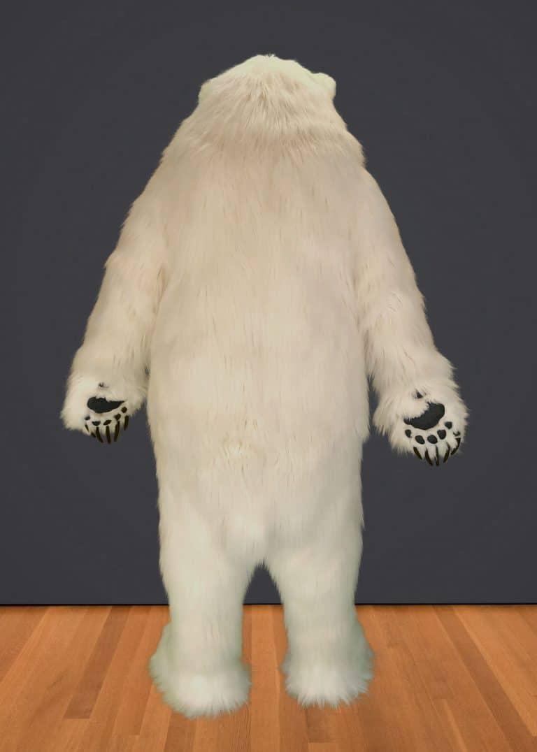 realistic polar bear for hire