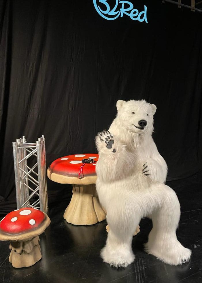 realistic polar bear costume for hire