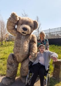 Bentley the realistic Teddy Bear costume for hire for events and TV